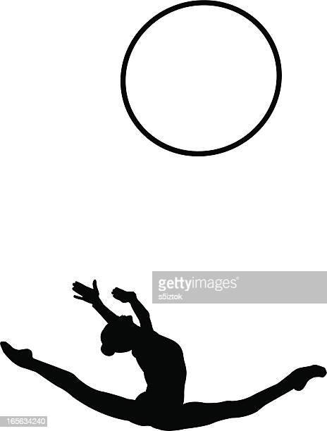 flexibility - plastic hoop stock illustrations