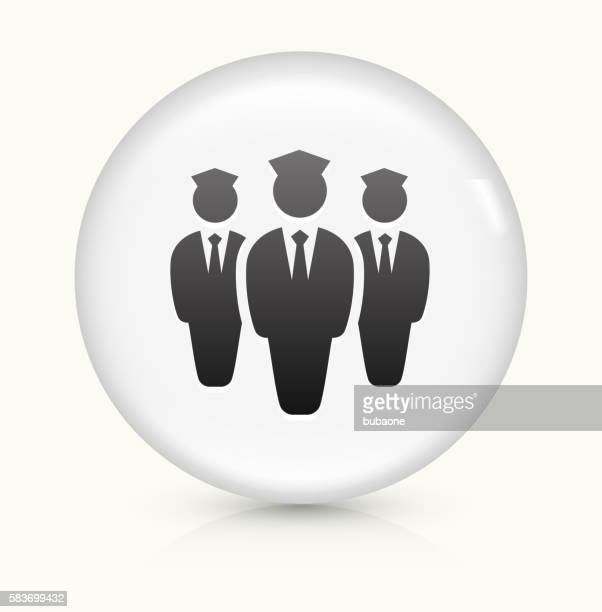 Flight Attendants icon on white round vector button