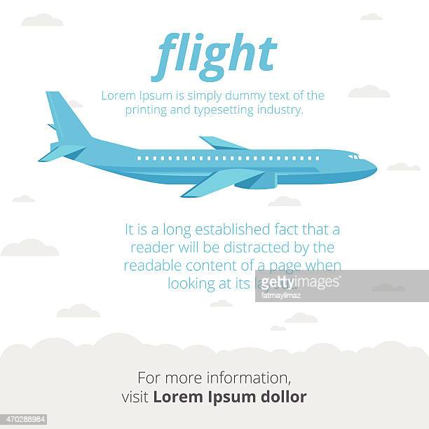 flight illustration - air travel stock illustrations, clip art, cartoons, & icons