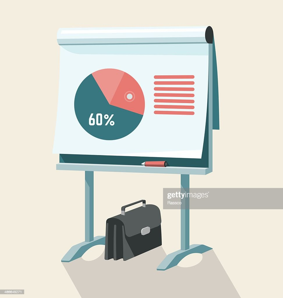 Flip Chart With Pie Graph
