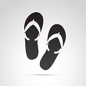 Flip flops icon.