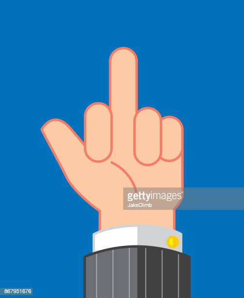 flip off icon flat - naughty america stock illustrations