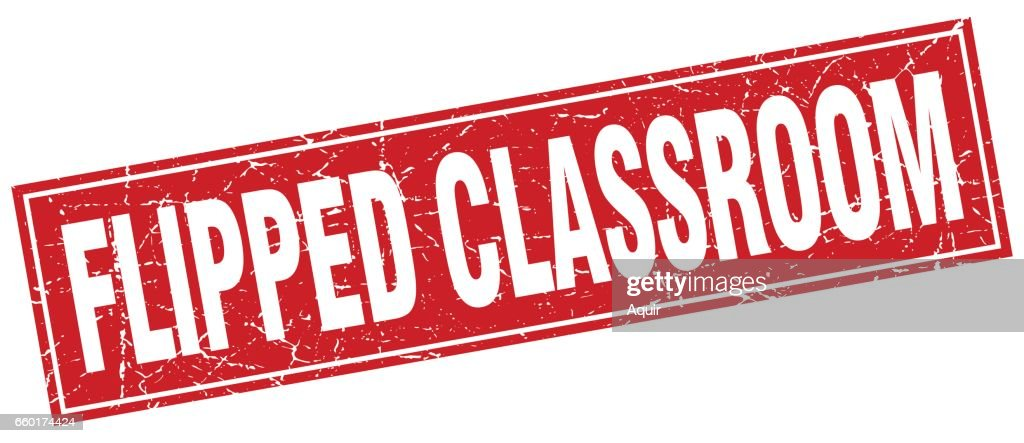 flipped classroom square stamp