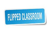 flipped classroom square sticker on white
