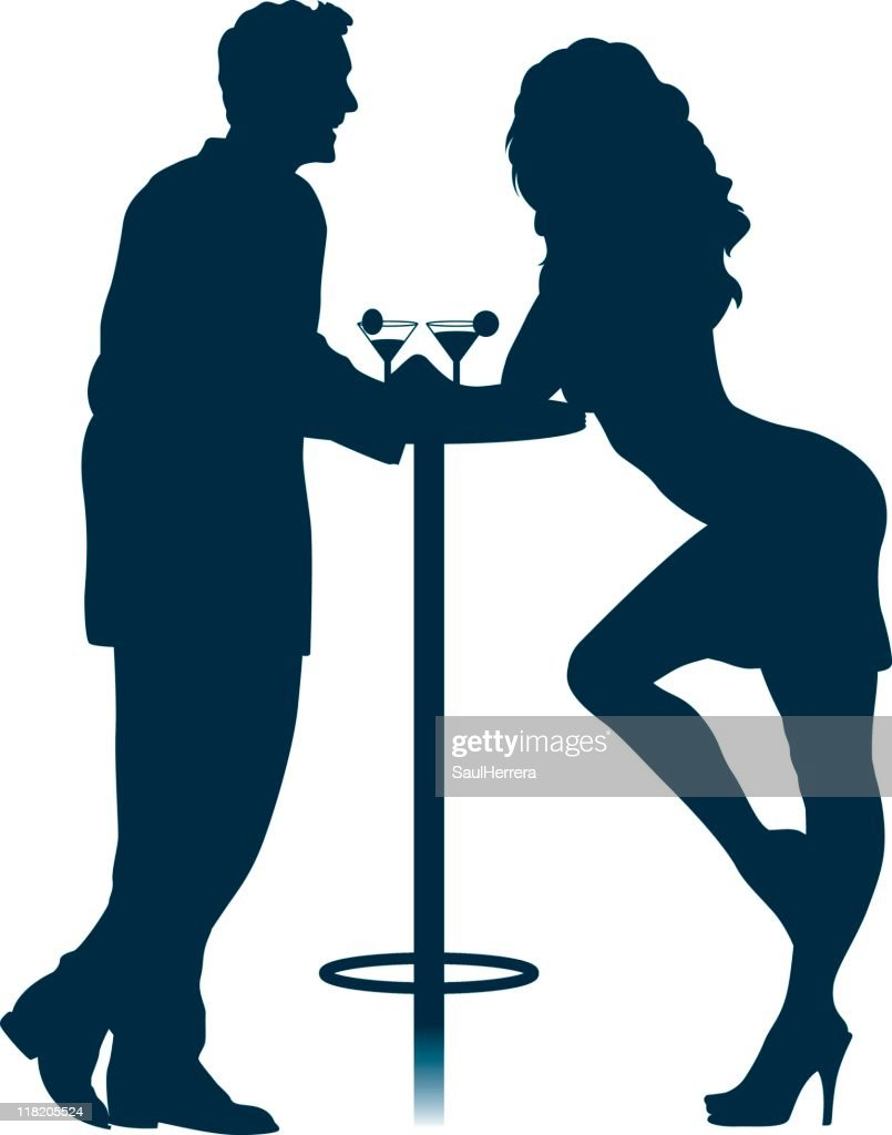 Flirting couple : stock illustration
