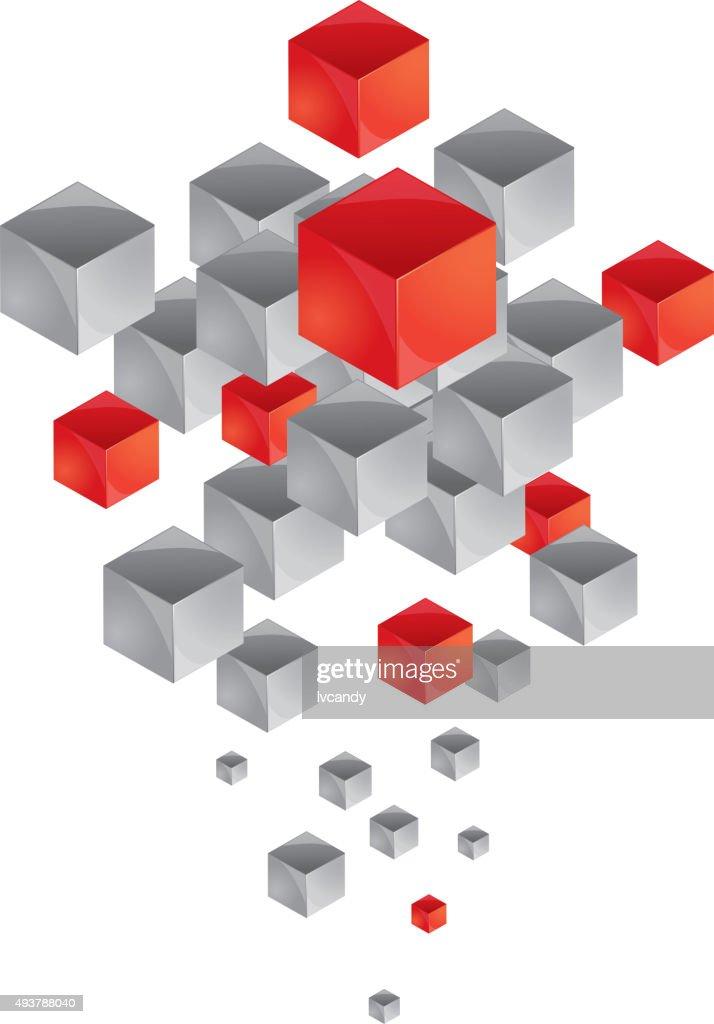Floating cubes : Vector Art