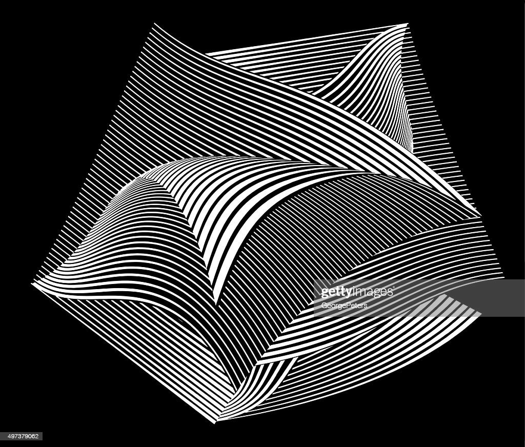 Floating Curled Pages with Striped Halftonr Pattern : stock illustration