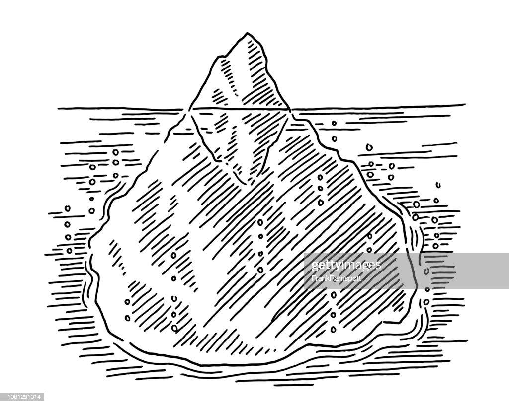 Schwimmenden Eisberg-Konzept-Zeichnung : Vektorgrafik