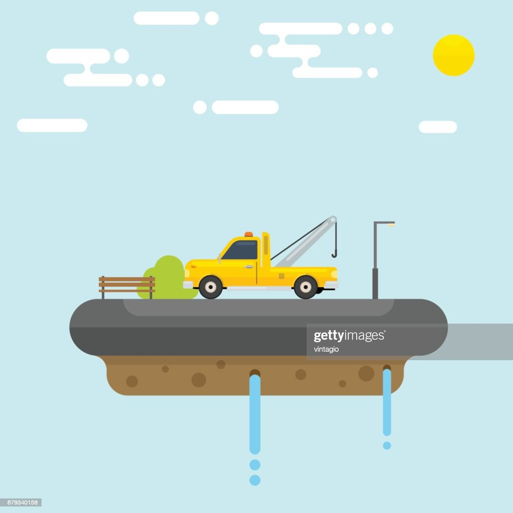 Floating Island with Tow Truck