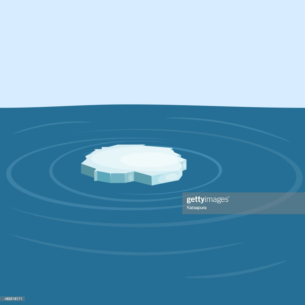 Floe in the sea. yeps10