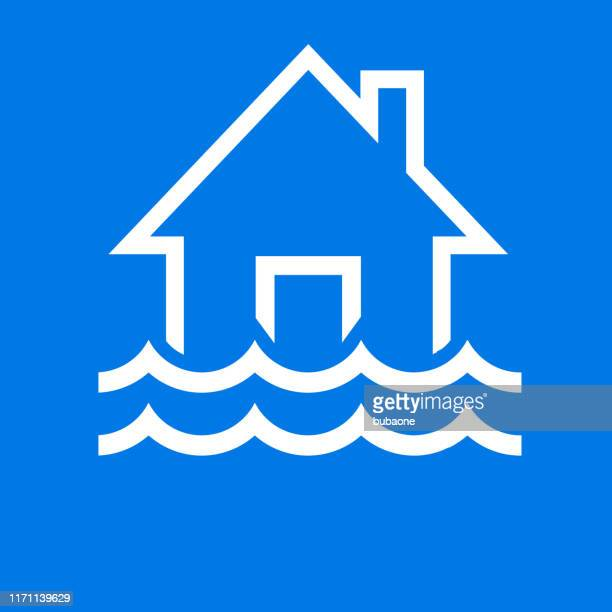 Flood Home and Waves Icon