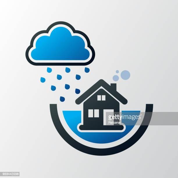 60点の大雨のイラスト素材クリップアート素材マンガ素材アイコン