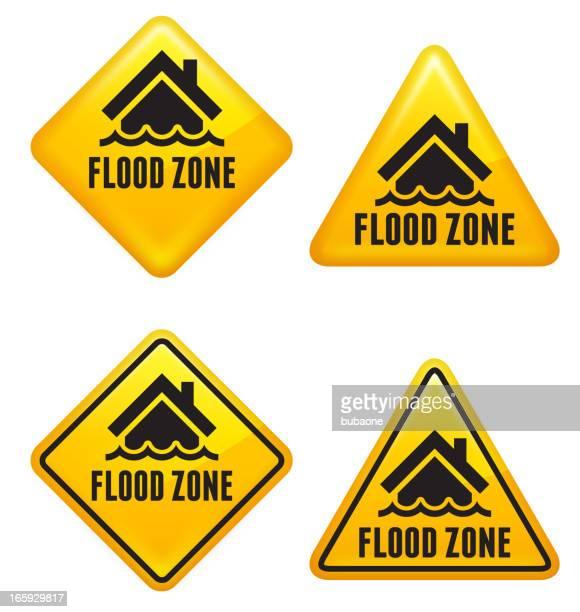 flood zone street sign - hurricane stock illustrations, clip art, cartoons, & icons