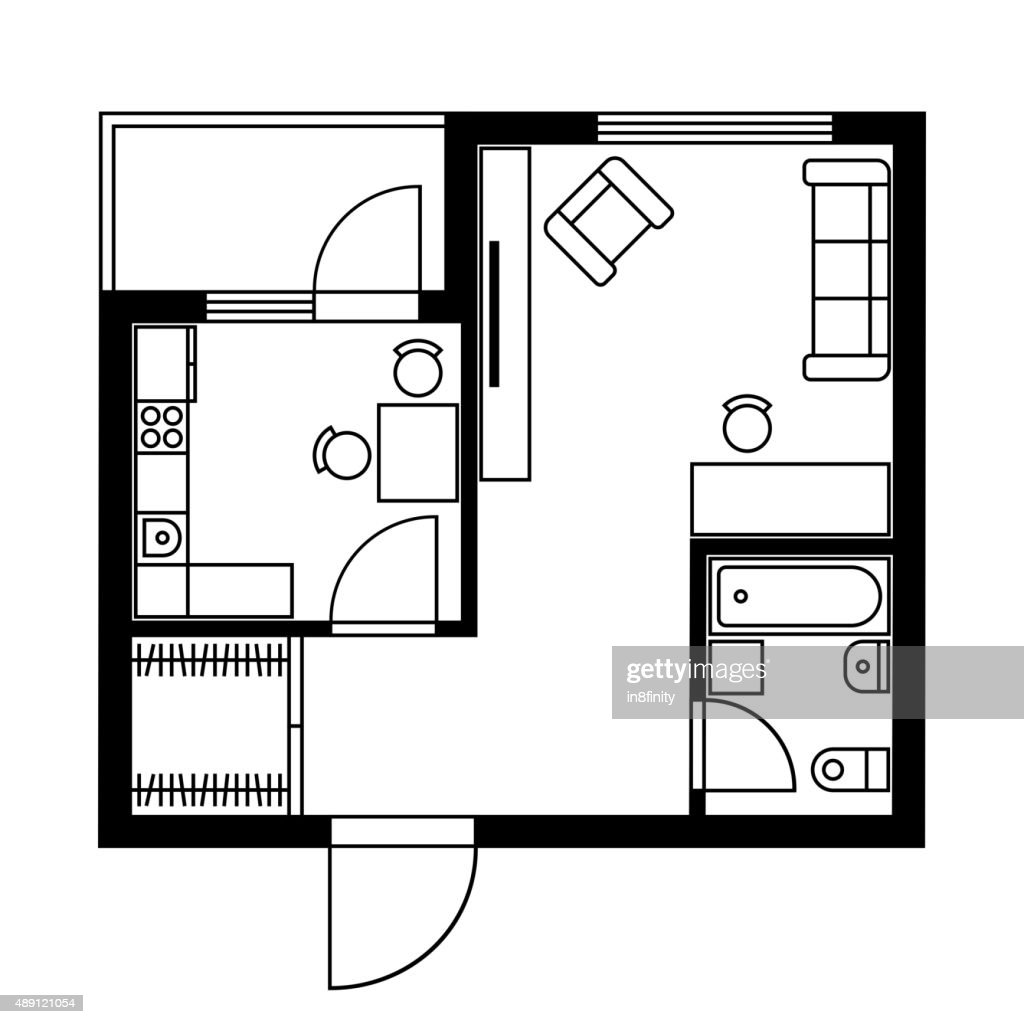 Floor Plan Of A House With Furniture