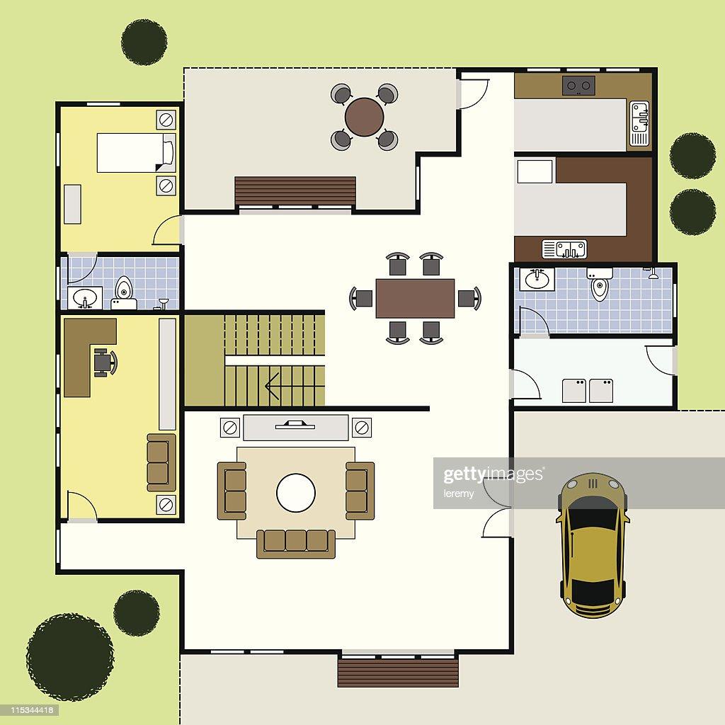 Floorplan Ground Floor Plan House Home Architecture