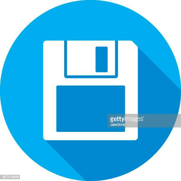 floppy disk icon silhouette 2 - floppy disk stock illustrations, clip art, cartoons, & icons