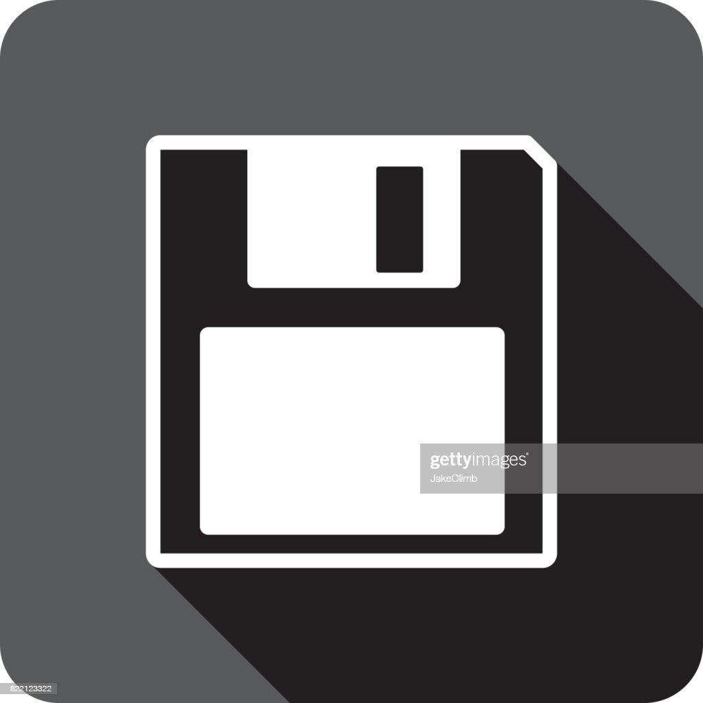Floppy Disk Icon Silhouette : stock illustration