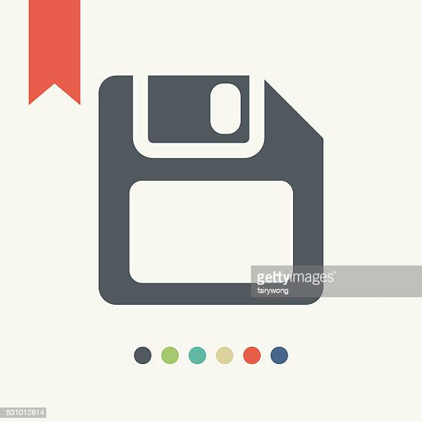 floppy disk icon - floppy disk stock illustrations, clip art, cartoons, & icons