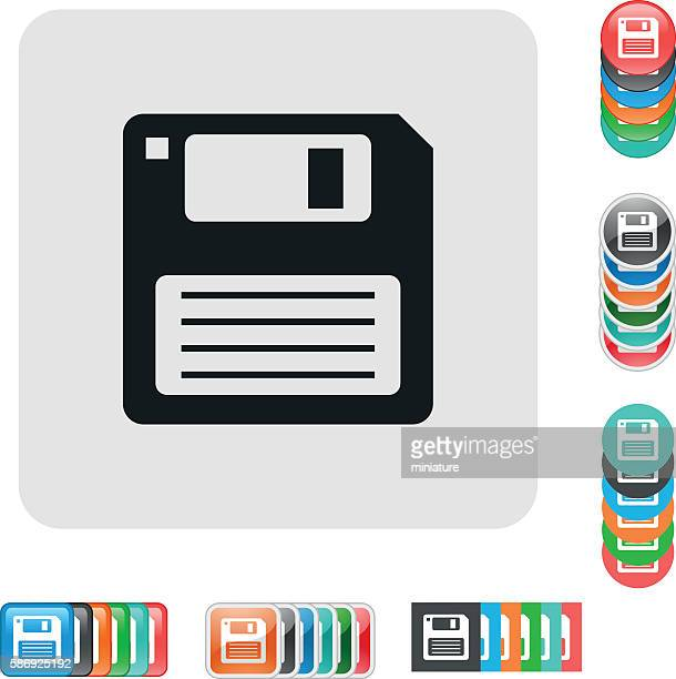 floppy disk icons - floppy disk stock illustrations, clip art, cartoons, & icons