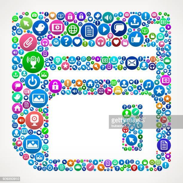 ilustrações de stock, clip art, desenhos animados e ícones de floppy disk internet communication technology icon pattern - maquina fotografica antiga