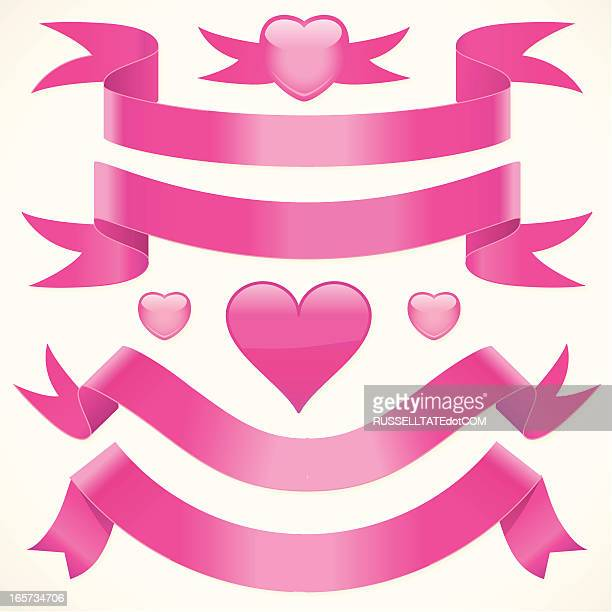 floppy pink ribbons - flaccid stock illustrations, clip art, cartoons, & icons
