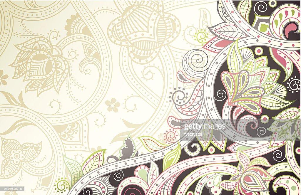Floral abstracto curva : Arte vectorial
