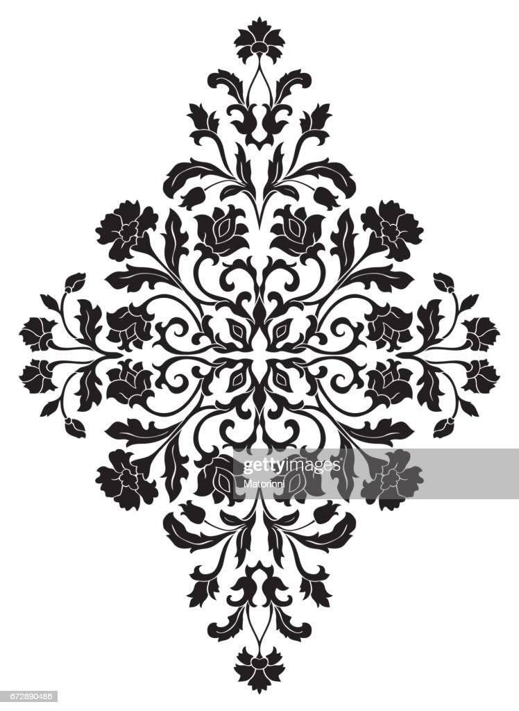 Floral abstract ornament.