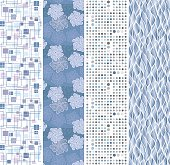 Floral and geometric seamless banners.