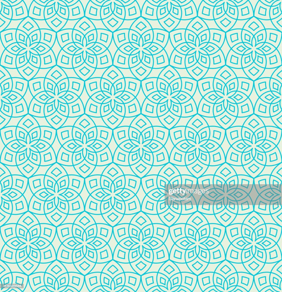 Floral arabesque pattern