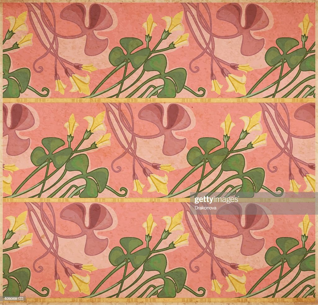 Floral art-nouveau background