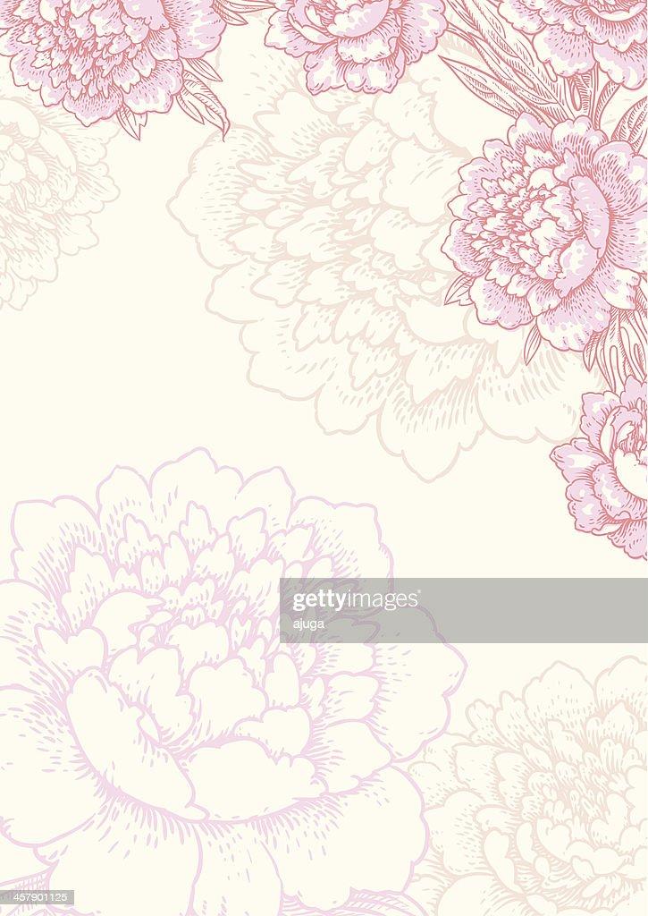 Floral background. Card.