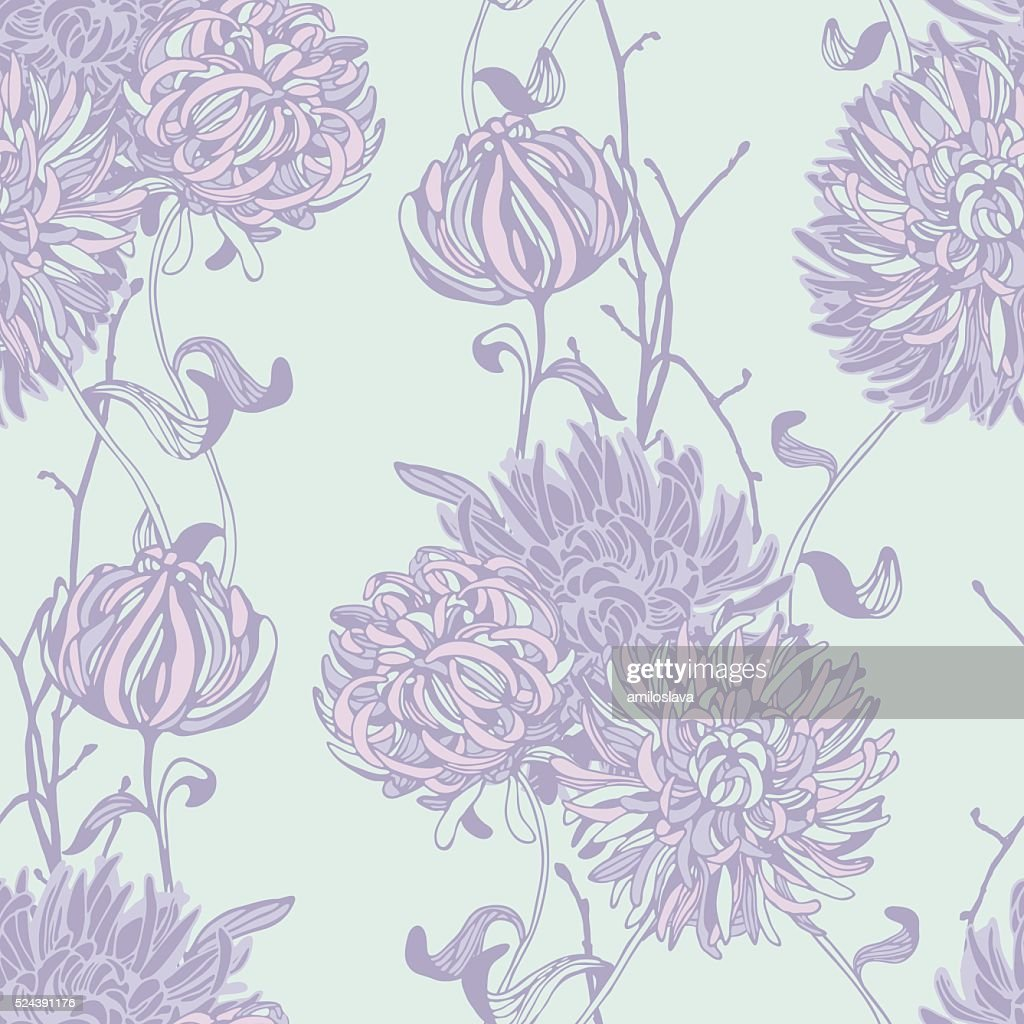 Floral background. Seamless floral pattern.
