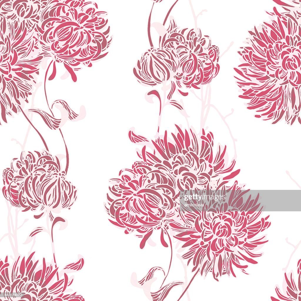 Floral background. Seamless floral pattern