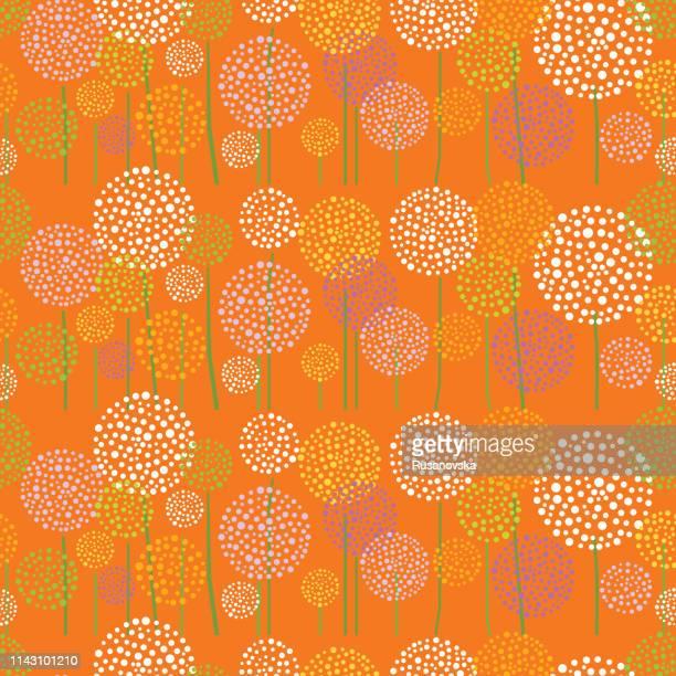 illustrations, cliparts, dessins animés et icônes de fond floral. été. - fleur de pissenlit