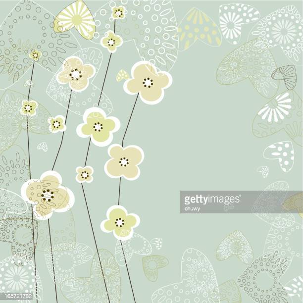 floral background - anniversary card stock illustrations