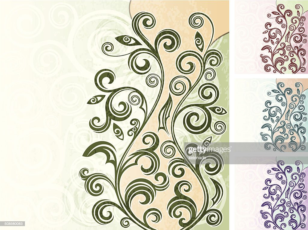 Floral background : Vector Art