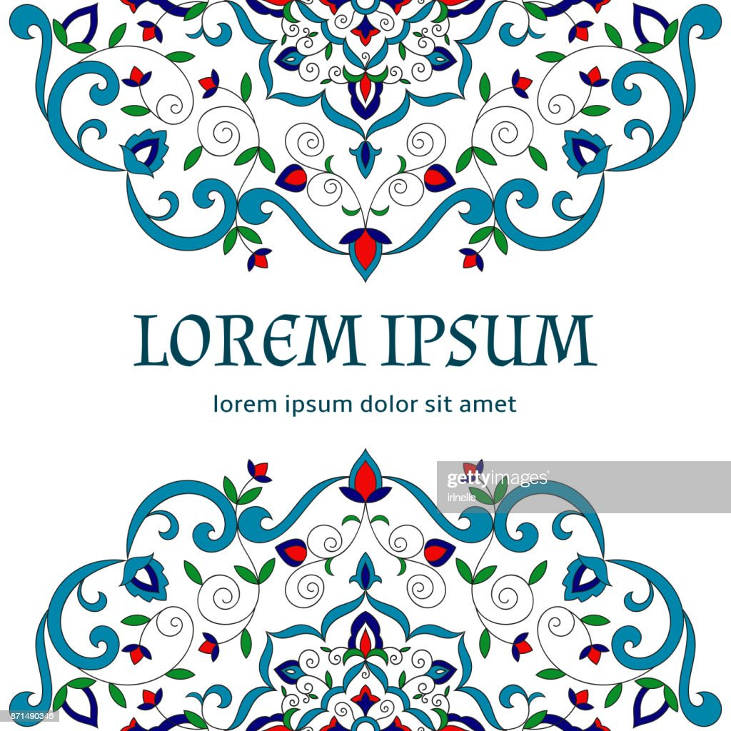 Floral background vector template