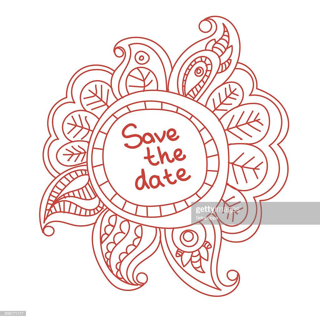 floral banner doodle