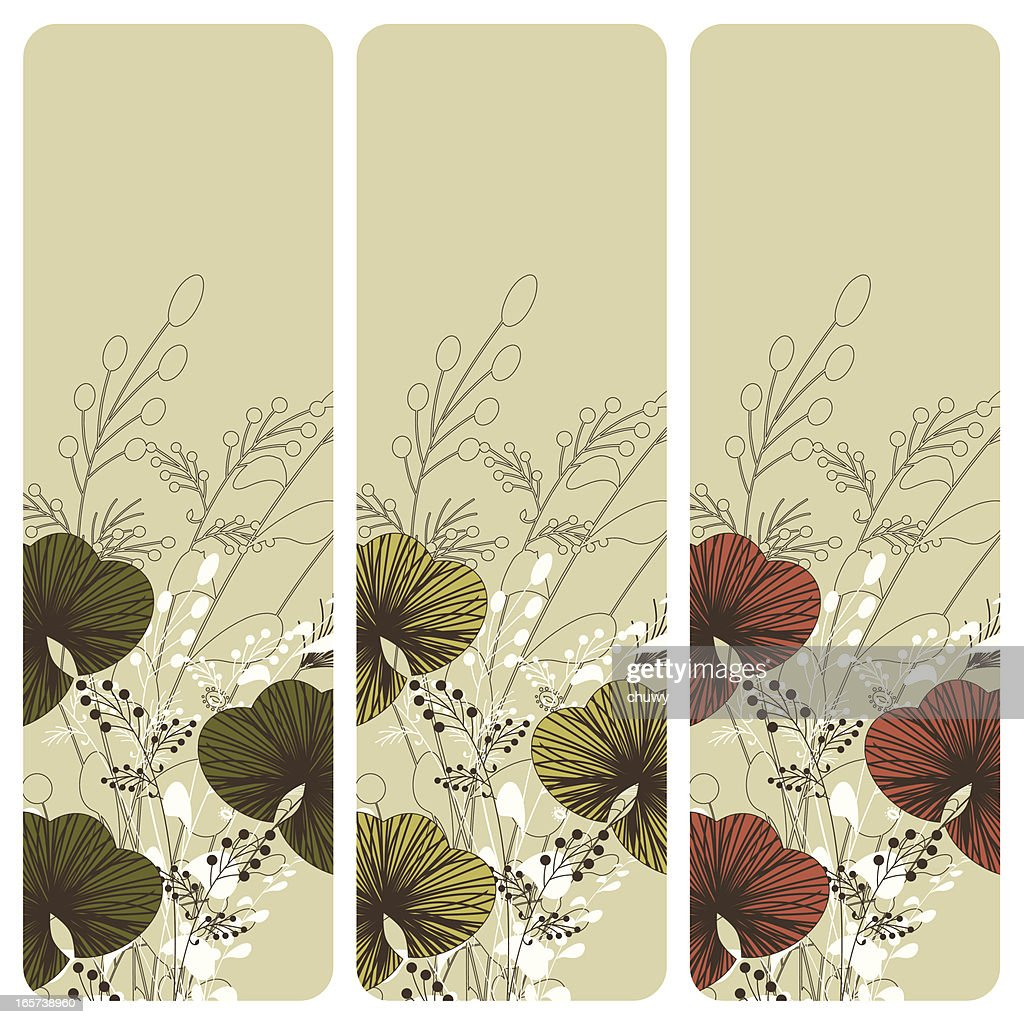 Floral banners : stock illustration