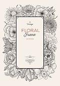Floral border illustration