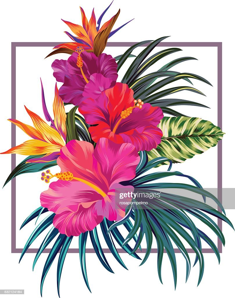 floral bouquet with frame.
