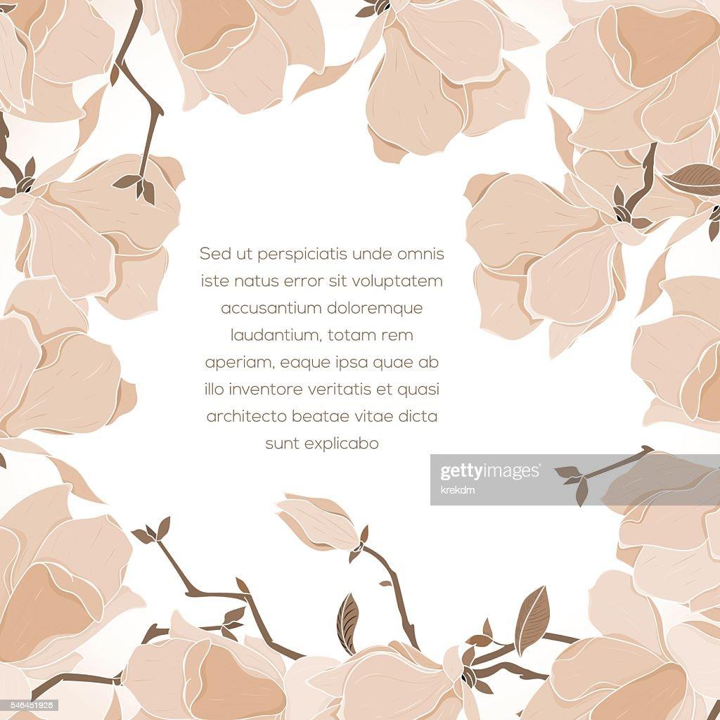Floral card invitation