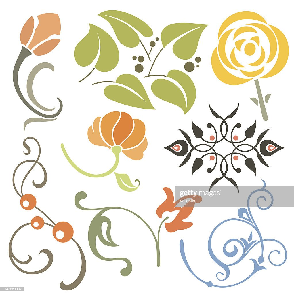 Floral Design Elements (Vector)