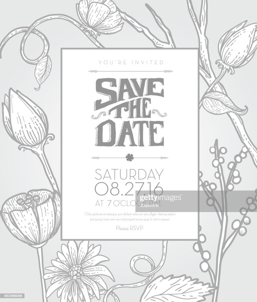 floral design invitation template vector art getty images