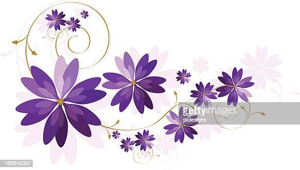 Floral Design with Copy Space - Rich Purple, Lavender