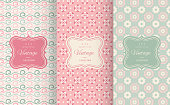 Floral different vector seamless patterns