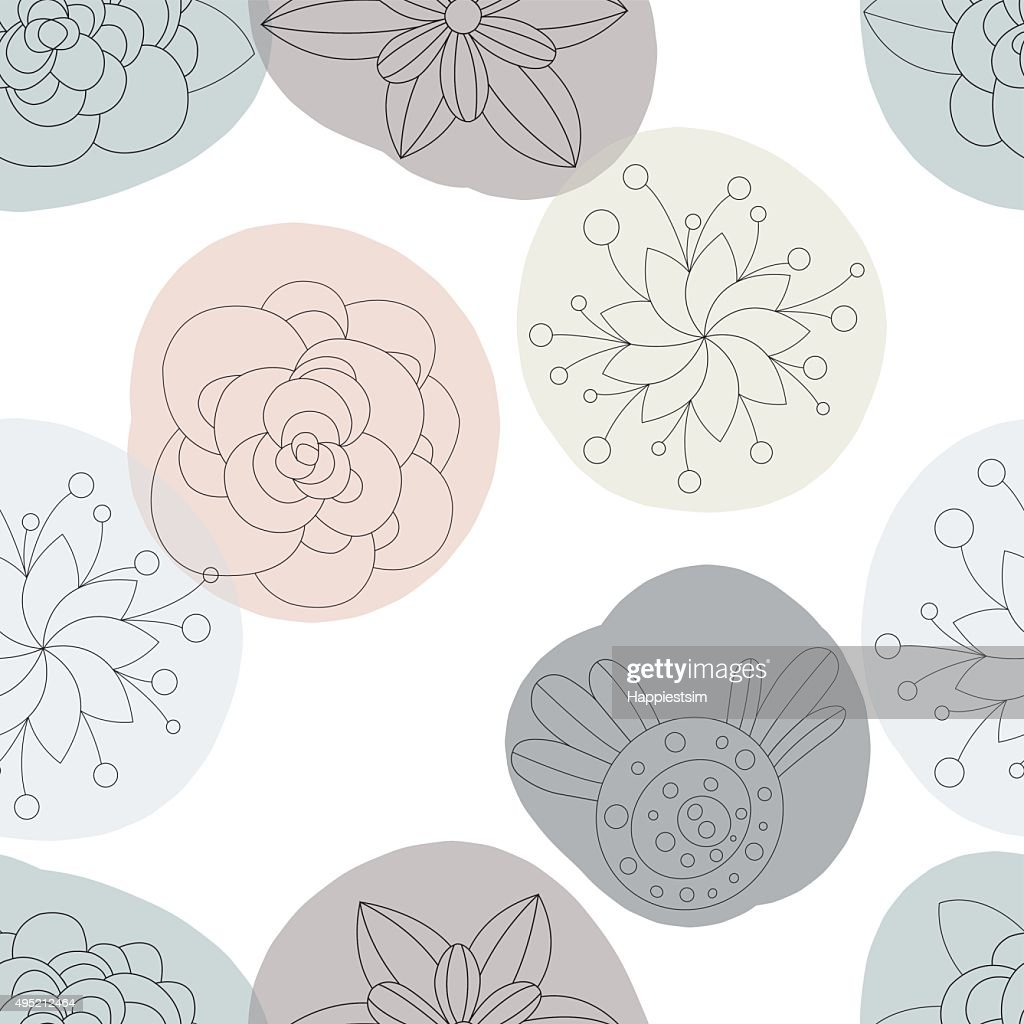Floral flowers seamless pattern, background