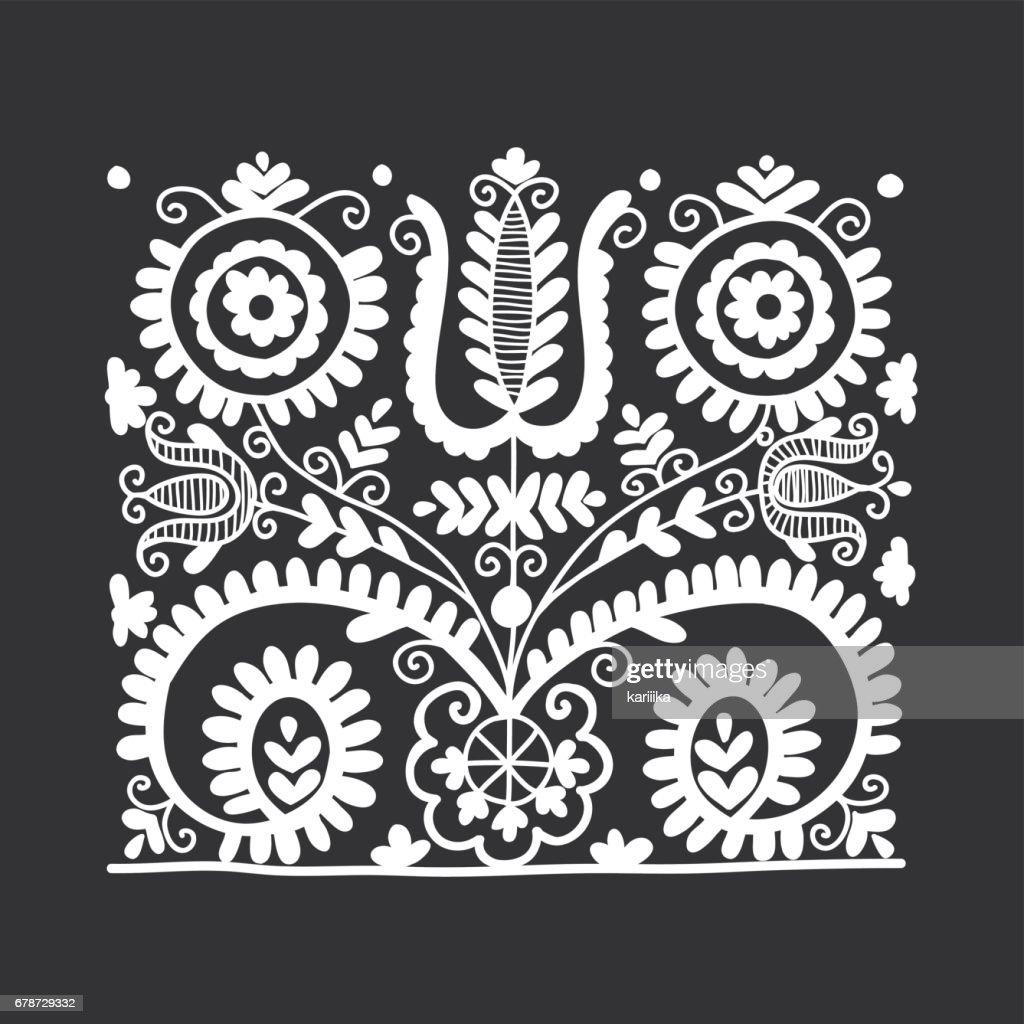 Floral folk ornament