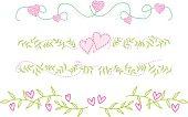 floral frame border elements