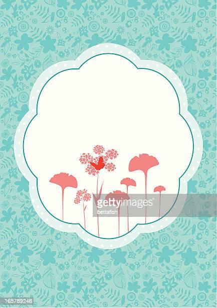Marco de diseño Floral con espacio de copia